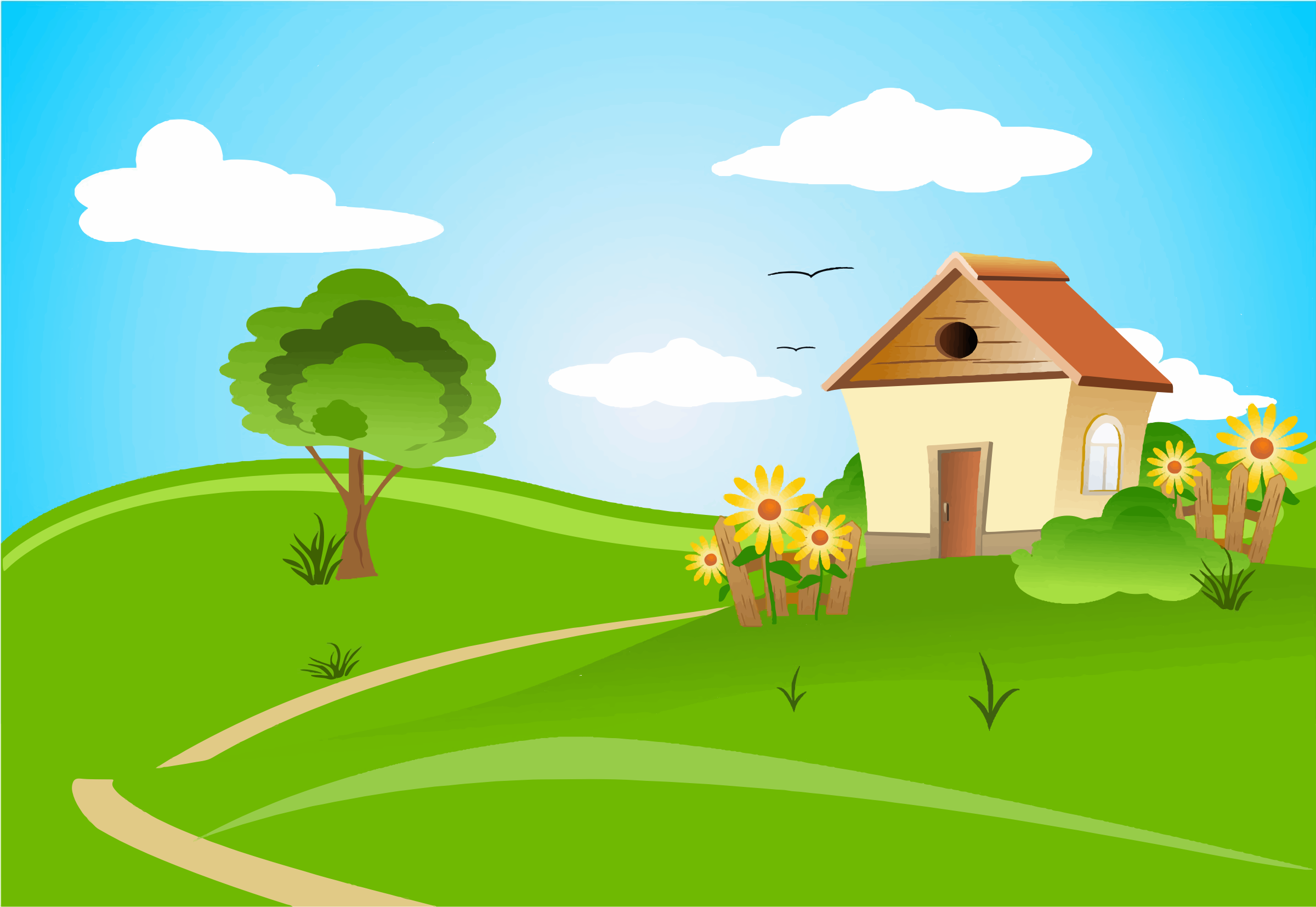 River clipart rolling hills And Clipart Green And Green