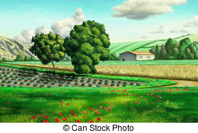 Feilds clipart wheat field Illustration of  · some