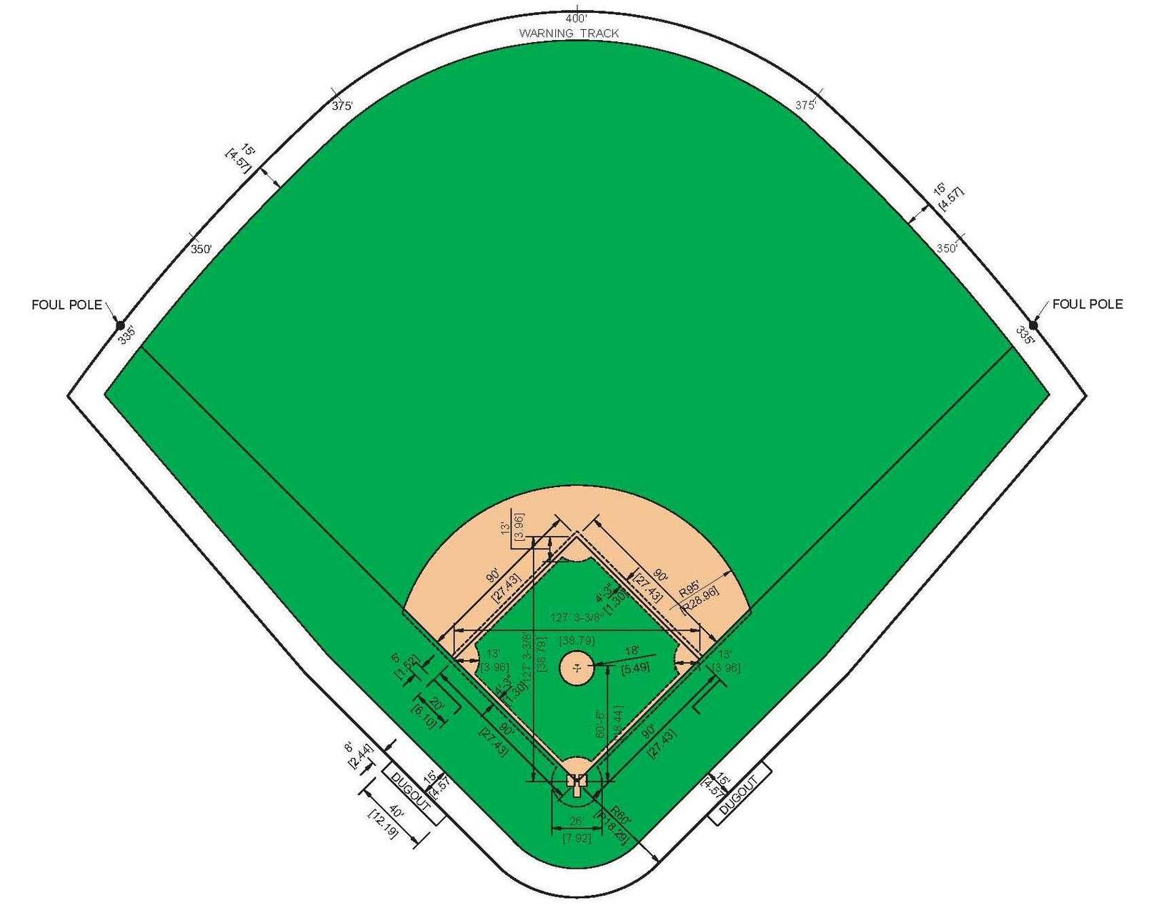 Diamond clipart softball diamond To clip cliparts Baseball template