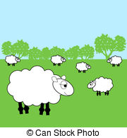 Feilds clipart sheep Sheep Illustration  19 sheep