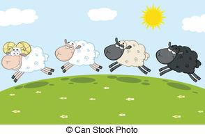 Feilds clipart sheep Sheep Jumping Ram  Leading