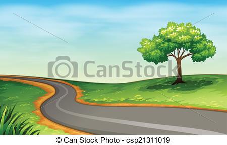 Road clipart narrow road Of A a narrow Art