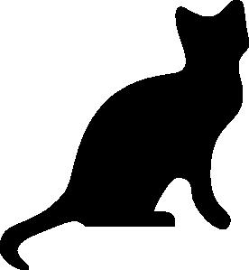 Feline clipart Com vector Silhouette Clker 2