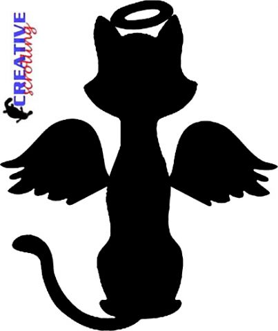 Angel clipart cat Pattern  Christmas Cat Library