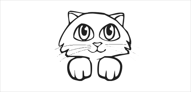 White clipart cat face Face Clipart of Cat 20+