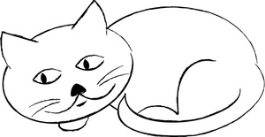 Cat clipart curled Clipart Sleepy  good curled