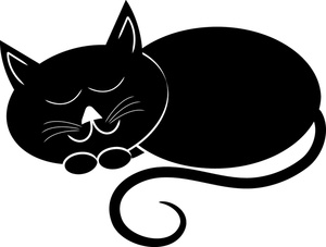 Cat clipart curled Curled Up Cliparts Clipart Cat