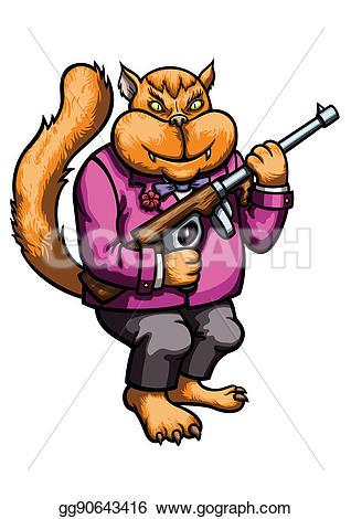 Cat clipart gangster In Illustration Gangster cat Stock