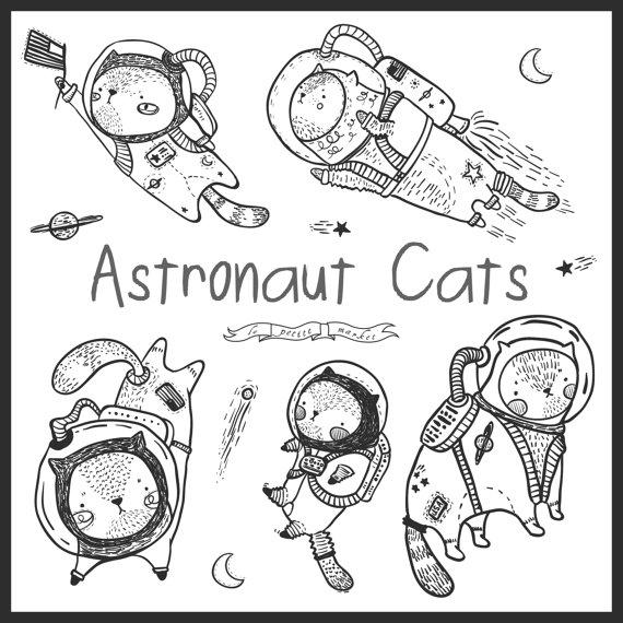 Drawn space cute Digital Cute Kitten Drawn Space