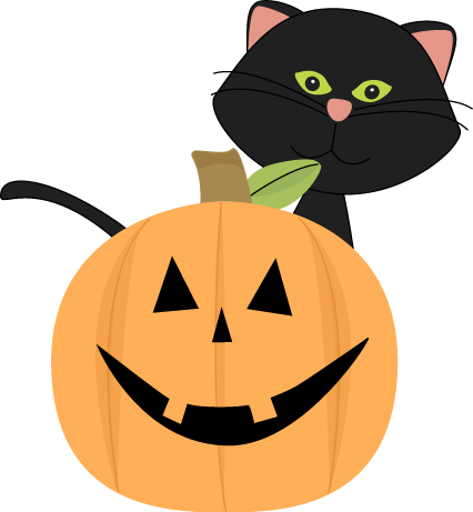 Black Cat clipart jack o lantern Art png collection Halloween cat