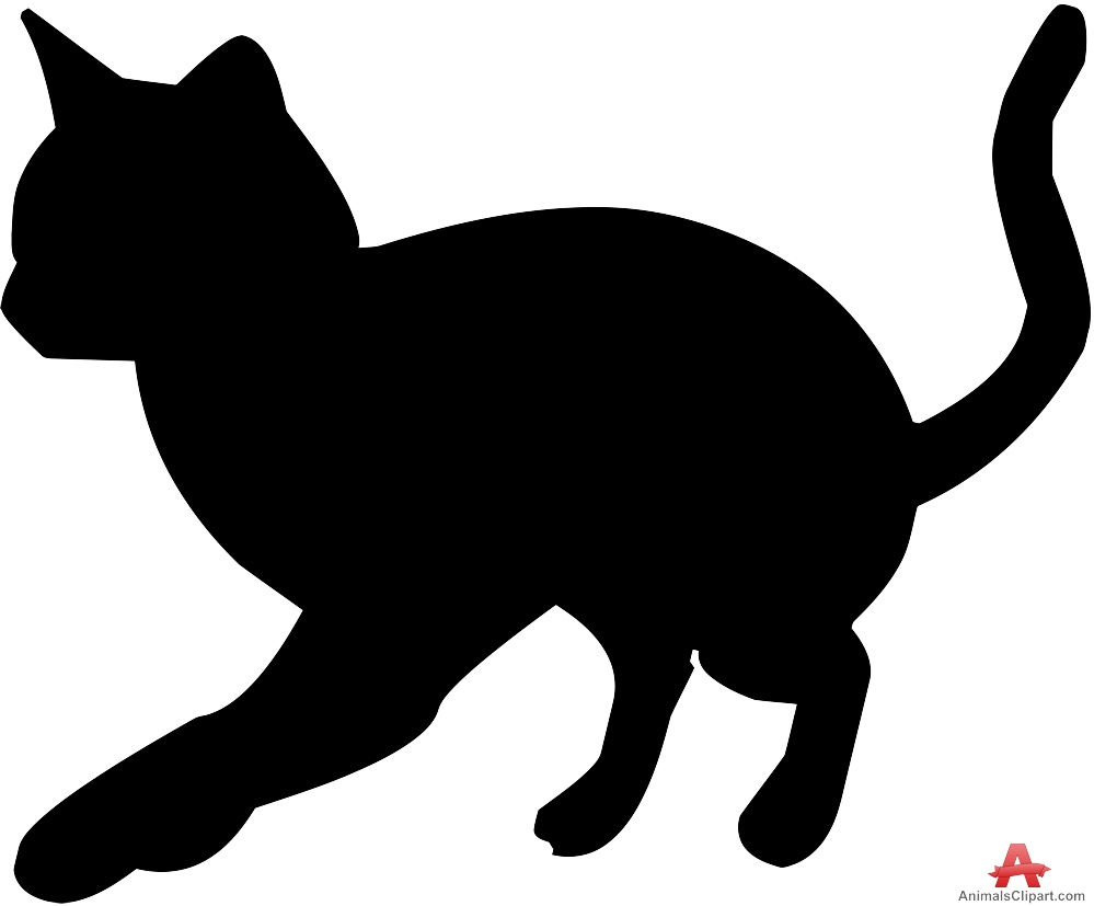 Cat clipart little cat Silhouette Animals keywords feline with