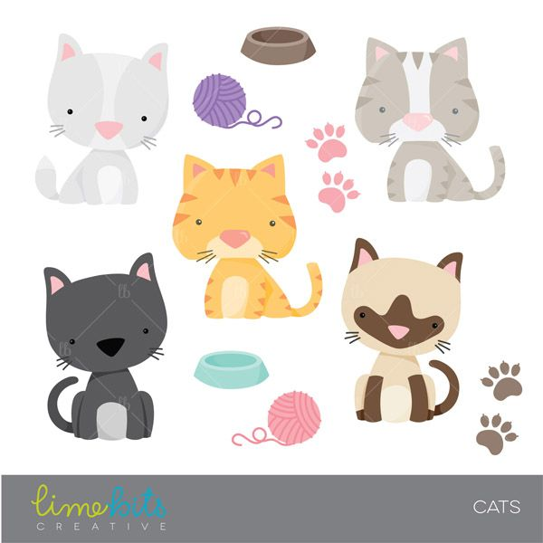 Cat clipart little cat On Five different on to