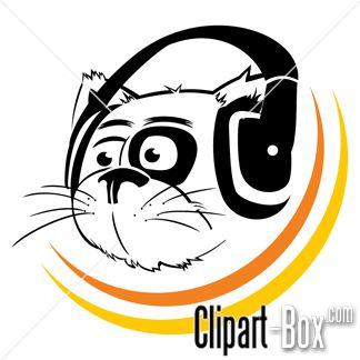 Fuzzy clipart cute music #3