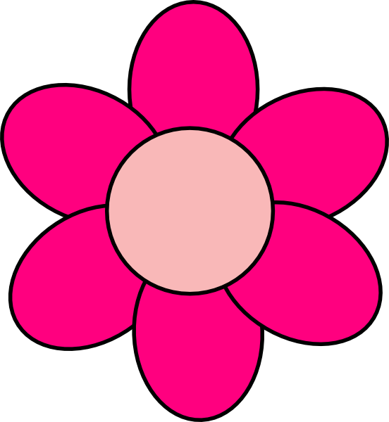 Pink Flower clipart for kid Art Free Flowers on Pink