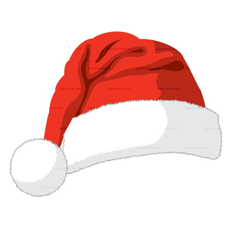 Drawn santa hat cartoon christmas SANTAS Santas Clipart ClipArt Vector