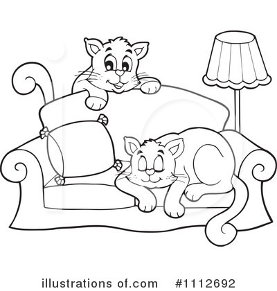 Cat clipart sofa Illustration #1112692 Illustration visekart Cats