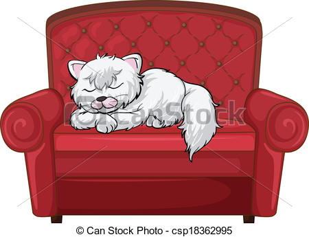 Cat clipart sofa The  A cat chair