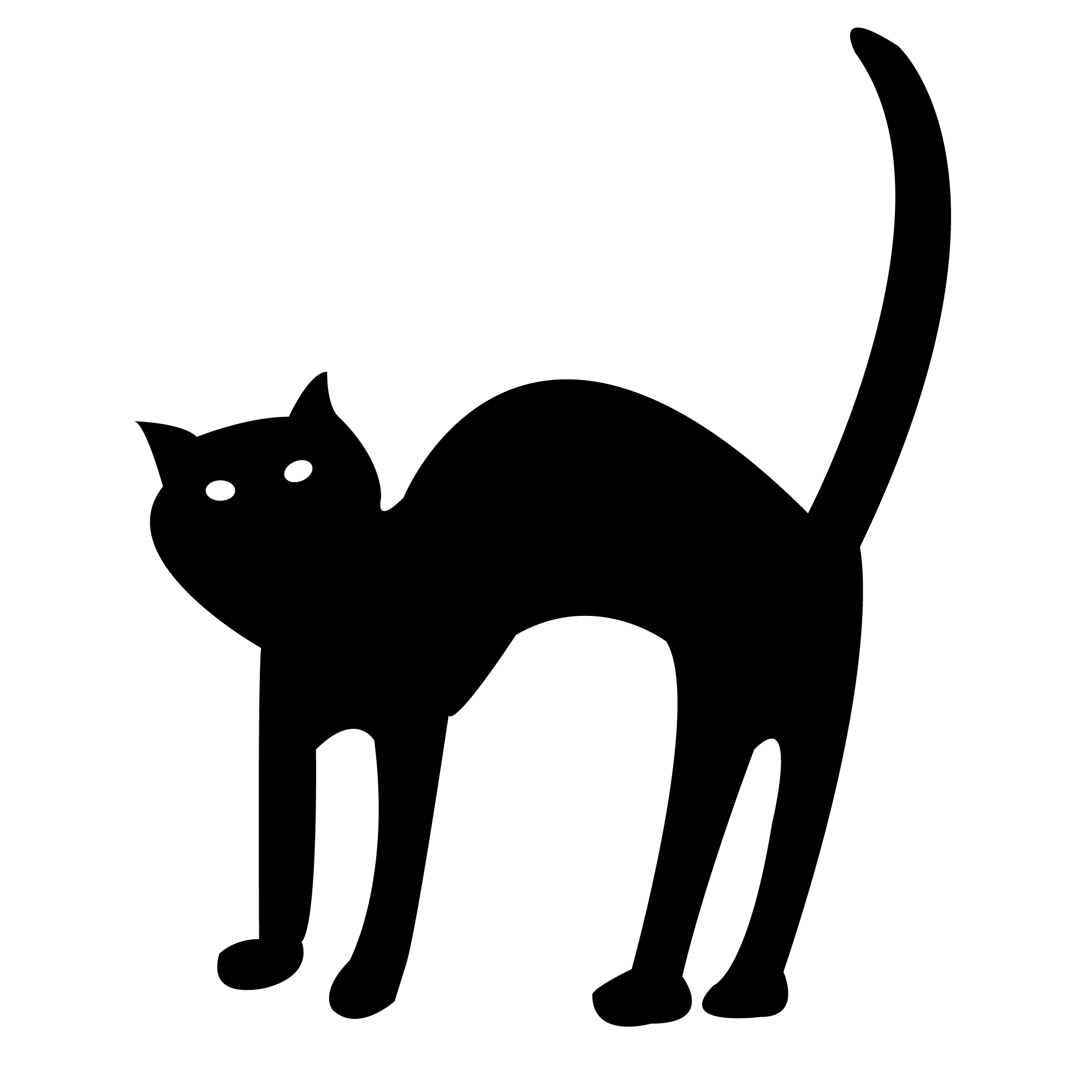 Black Cat clipart scared On Cute Clipart ClipArt Art