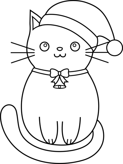 Pet clipart coloring picture Coloring Christmas Art Free Cat