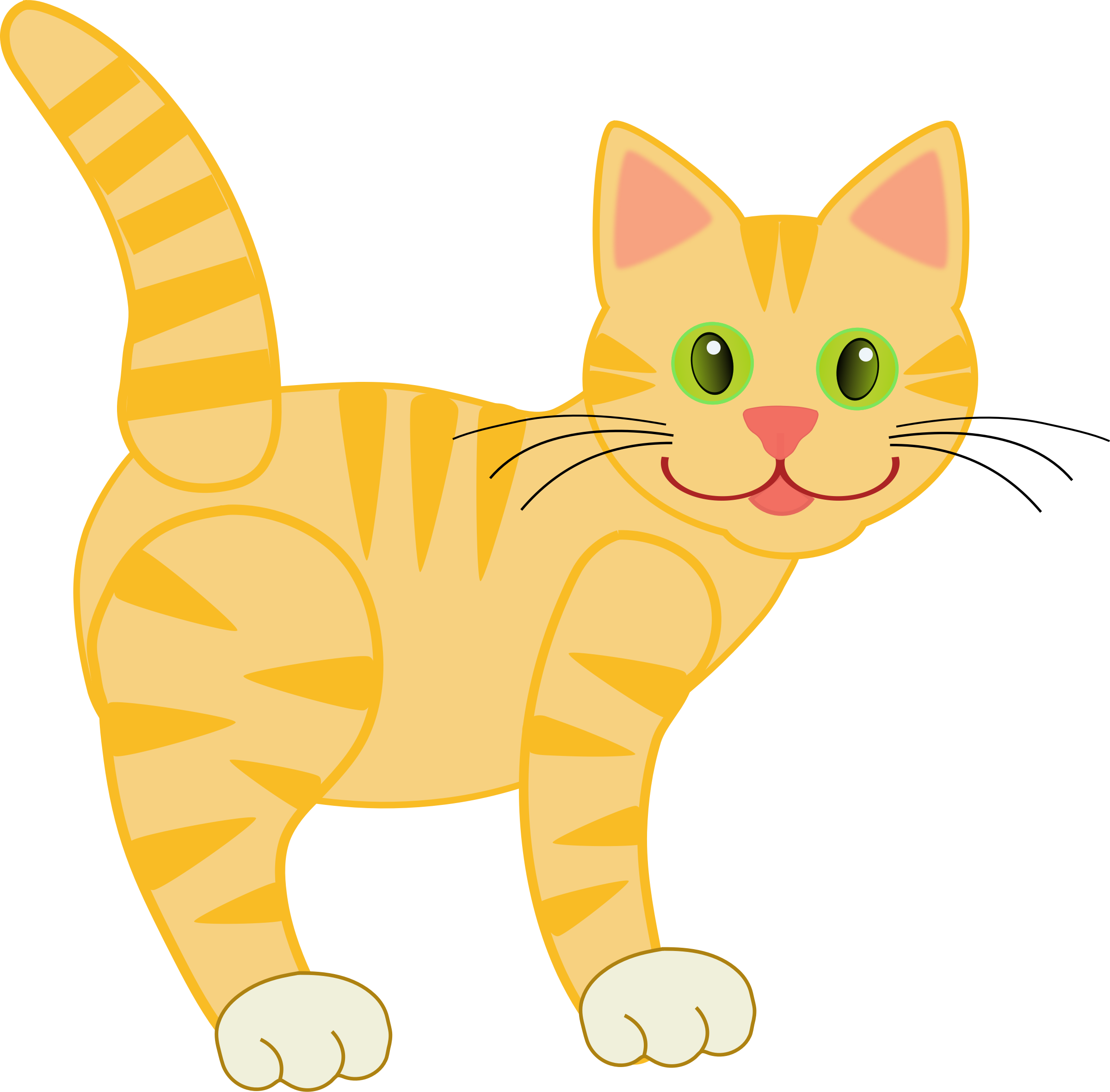 Cat clipart yellow Yellow Clipart Tiger Yellow Cat
