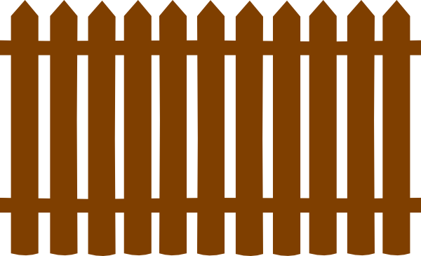 Brown clipart picket fence Fence Clip Clipart Free Art