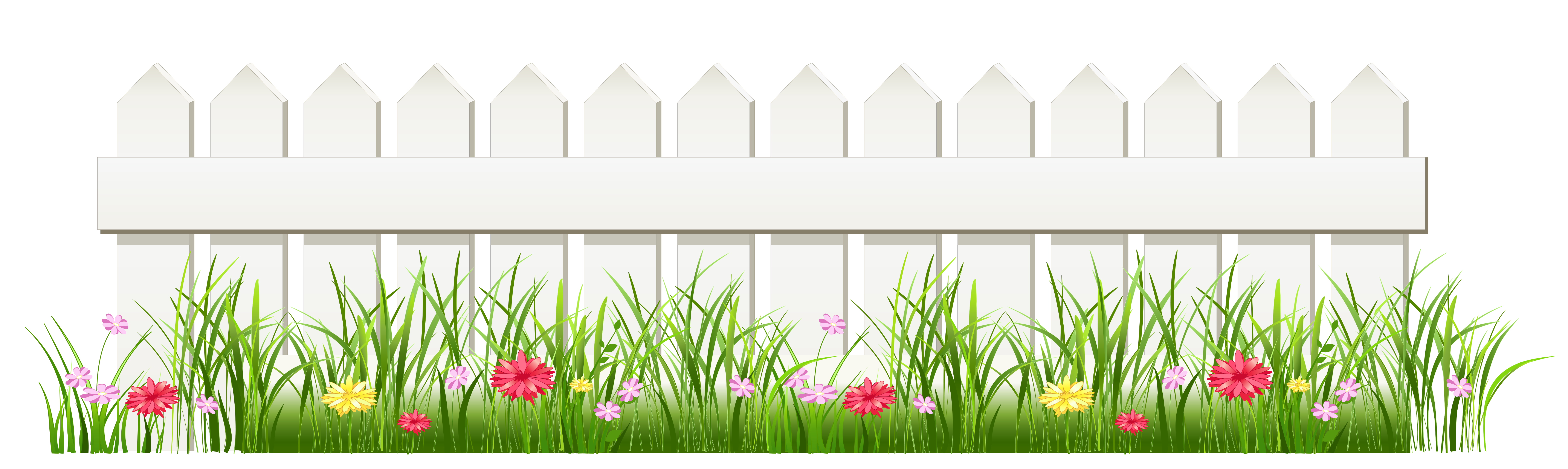 Background clipart fence Fence Grass White fence Transparent