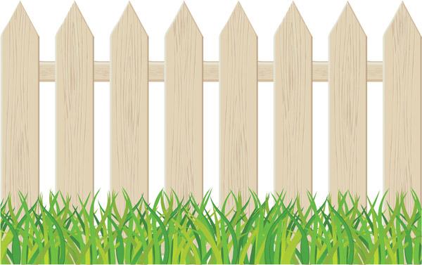 Brown clipart picket fence Fence clip Clipart Fence clip