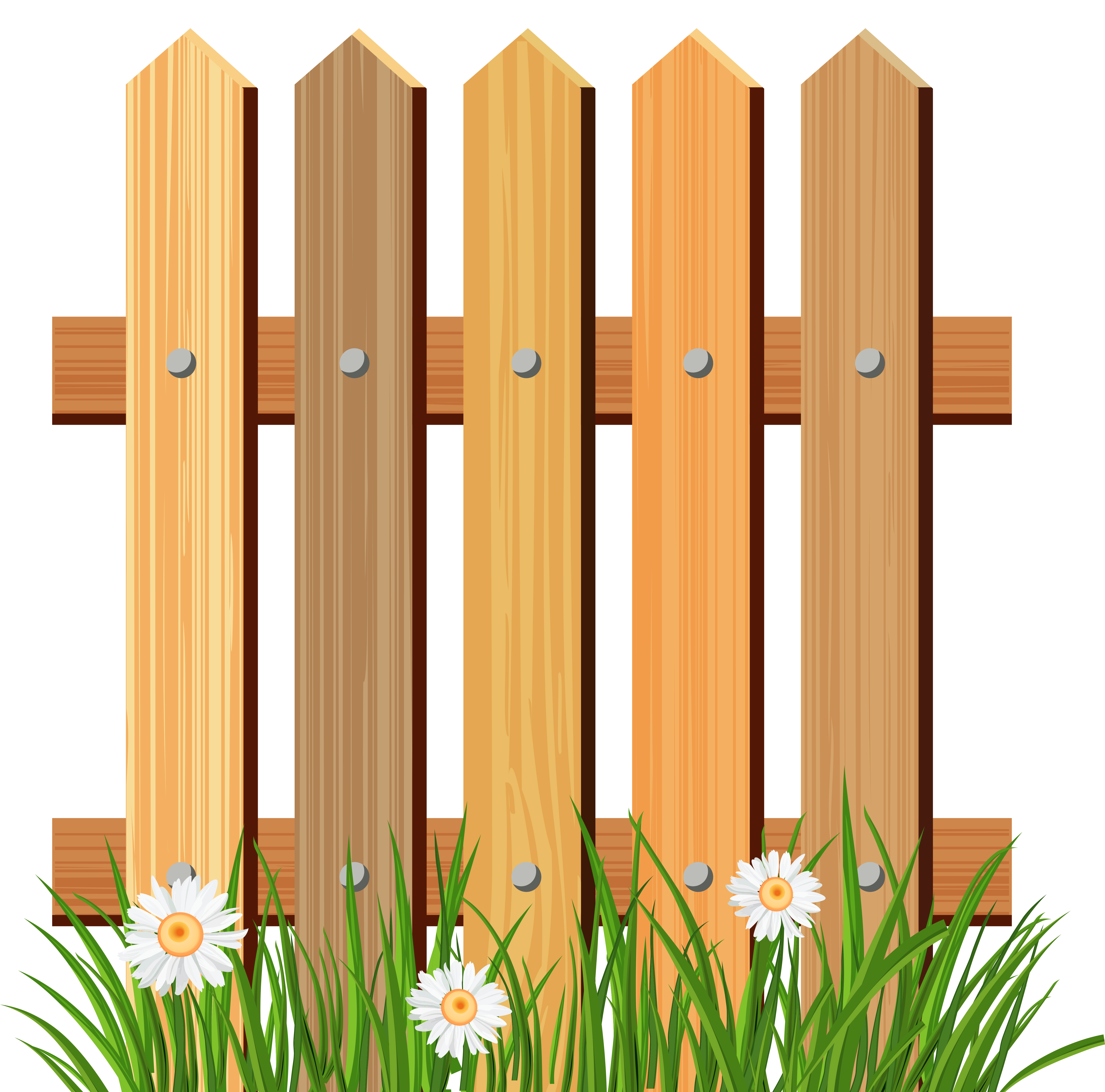 Background clipart fence Free Fence on Grass Free