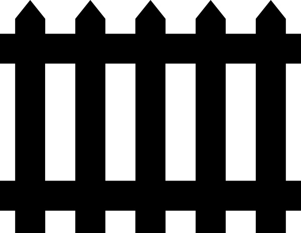 Fence clipart Vector ( vector drawing art