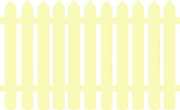 Yellow clipart fence Clip com Cream online Picket