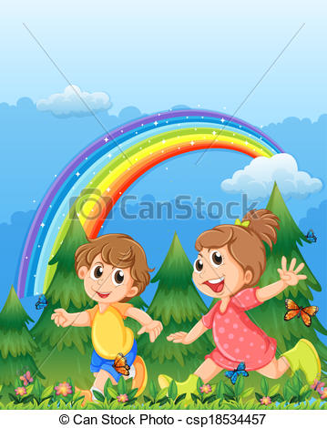 Fence clipart child garden #10
