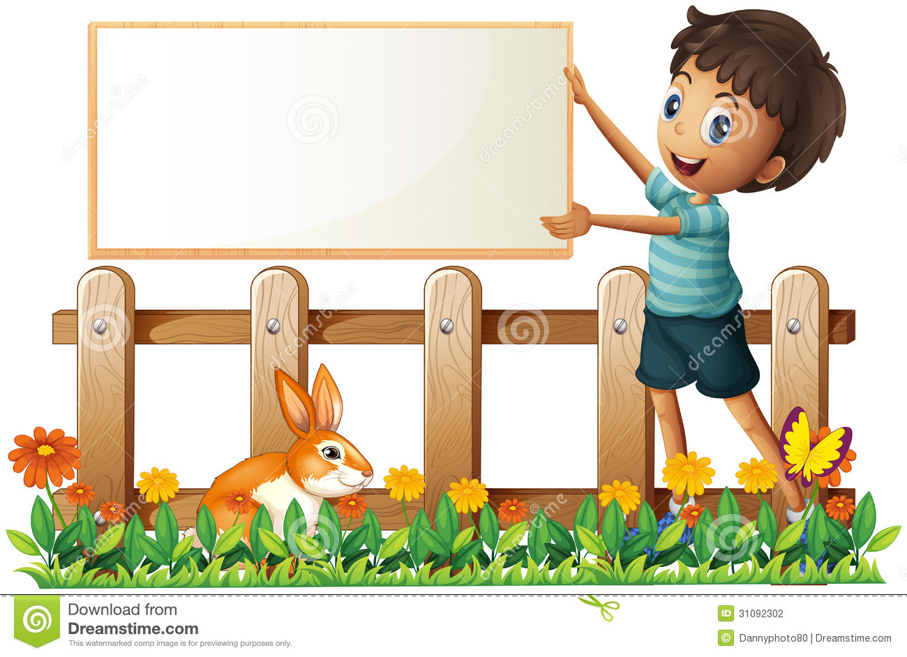 Fence clipart child garden #8