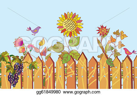 Wildflower clipart fence In in summer Fence Fence