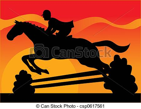 Fence clipart horse jumping #8