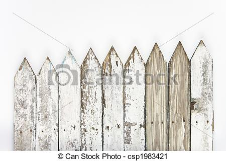 Fence clipart old white #4