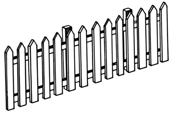 Fence clipart old white #5