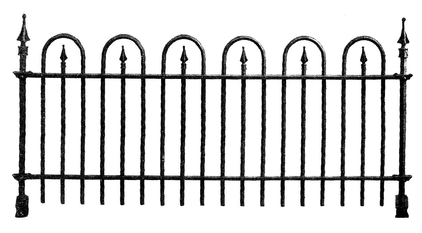 Fence clipart old white #2