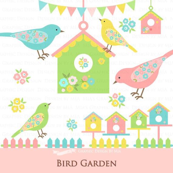 Bird House clipart fence This digital Bird / /