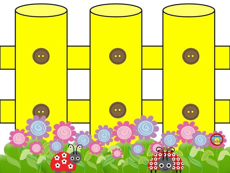 Yellow clipart fence Bilderna collections Pinterest fences om
