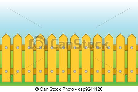 Yellow clipart fence #86 Fans Fence art 66