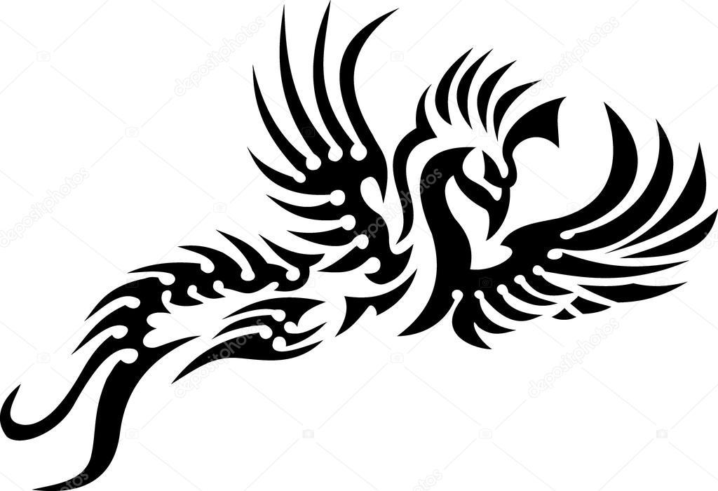 Fenix clipart hawk wing — black — Yyordanov Fenix