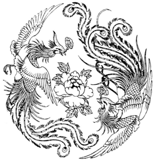 Drawn chinese dragon phoenix Search TATTOOS Pinterest chinese chinese