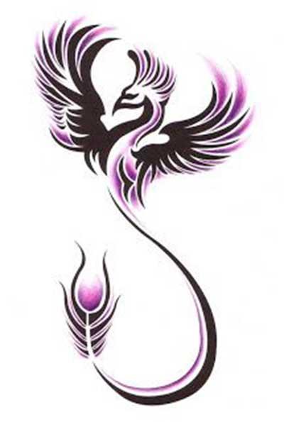 Fenix clipart purple Perna  na burton Tatuagens