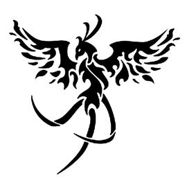 Fenix clipart stencil Phoenix Stencil Gallery Free Stencil