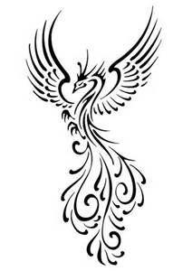 Fenix clipart stencil Best phoenix design tattoo 25+