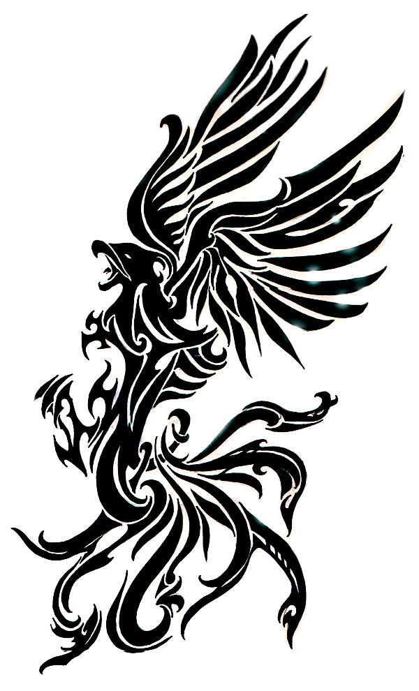 Fenix clipart tribal Tatoo tatoo ~Goldstress972 tribal phoenix