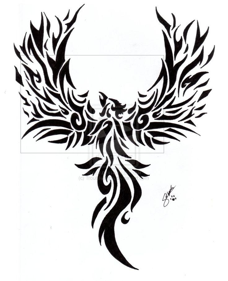 Fenix clipart tribal On (900×1110) 25+ ideas tribal+phoenix+tattoo+designs002