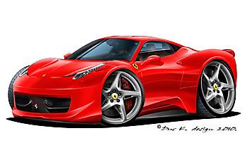 Ferarri clipart cartoon Cars cartoon Clipart Of ferrari