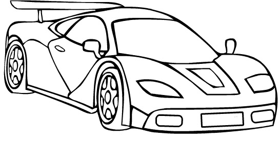 Ferarri clipart colouring page Pages Speed Ferrari car coloring