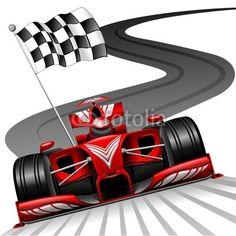 Ferarri clipart racetrack #10